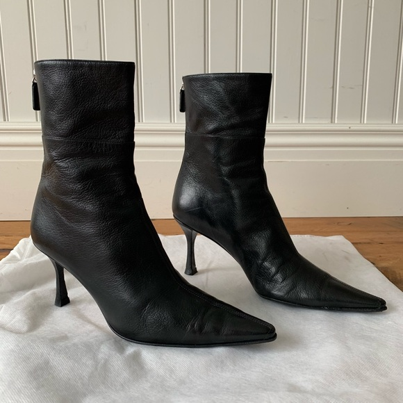 37fd35447a Gucci Shoes   Black Ankle Leather Bootsbooties 75   Poshmark